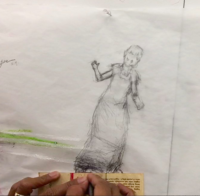 "Wilson, Ronaldo V. ""Drawings and Gestures: MacDowell 2017,"" Still. (Film Footage 15 min. 25 sec) October, 2017."