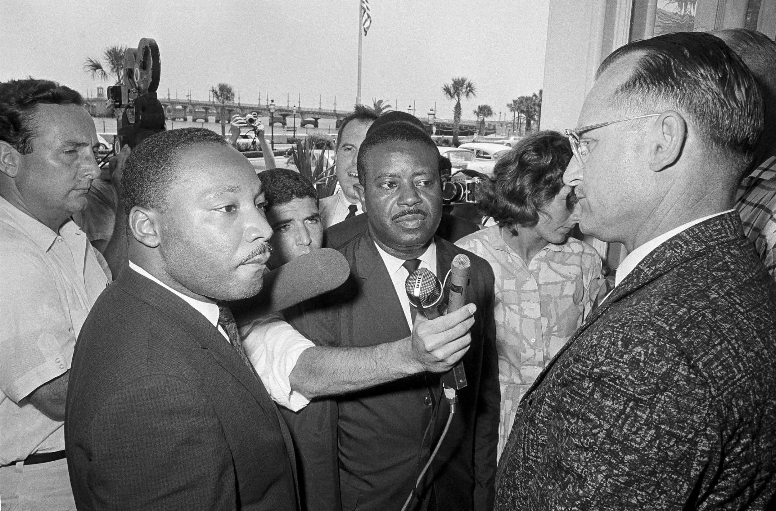 Here is my father reporting on June 11, when Martin Luther King Jr. and nine of his colleagues were arrested and jailed for refusing to leave the segregated Monson Motor Lodge where they had attempted to eat at its restaurant. (The Associated Press)