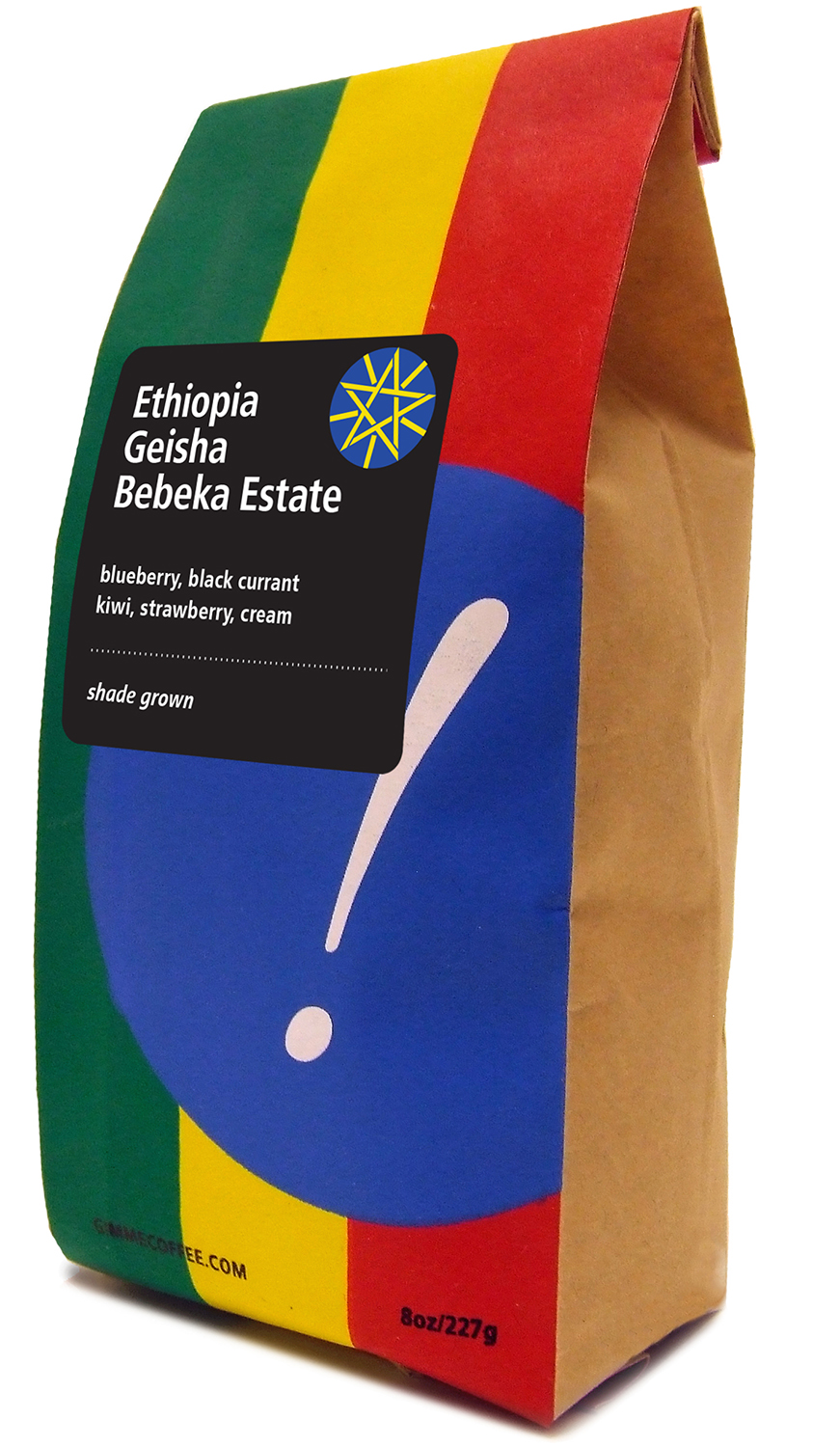 Ethiopia Geisha Bebeka Estate    6c. Screen Print    Printed by Kaleb Hunkele    Designed by Eva Havle
