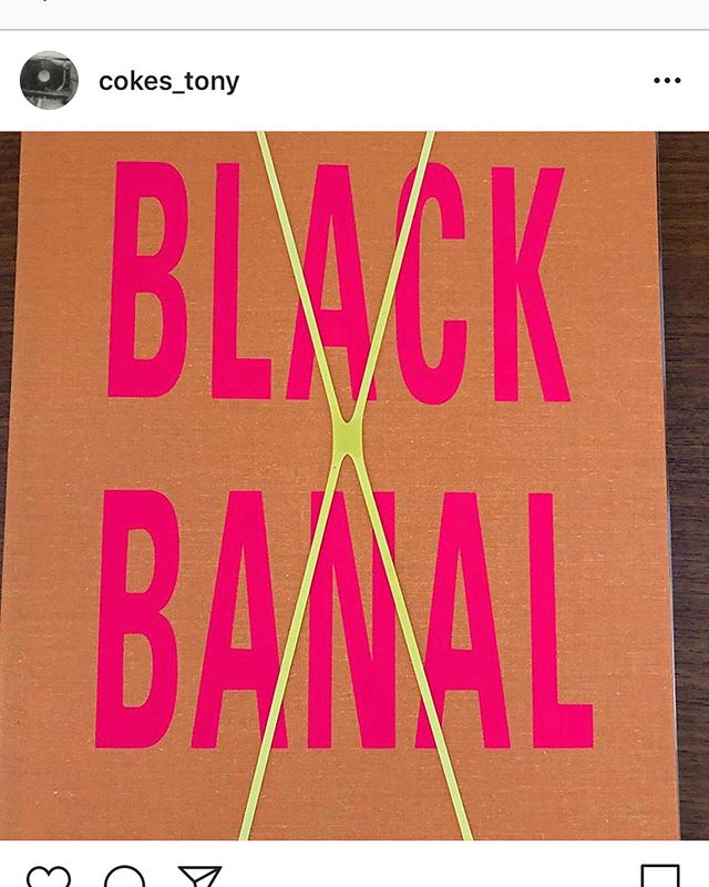 Stoked to have been part of this amazing project - @cokes_tony Black Banal, second edition! 15 screen printed pages + awesome slip cover, edition of 100. @elanaschlenker @imagetextithaca @greenenaftali @conveyorstudio
