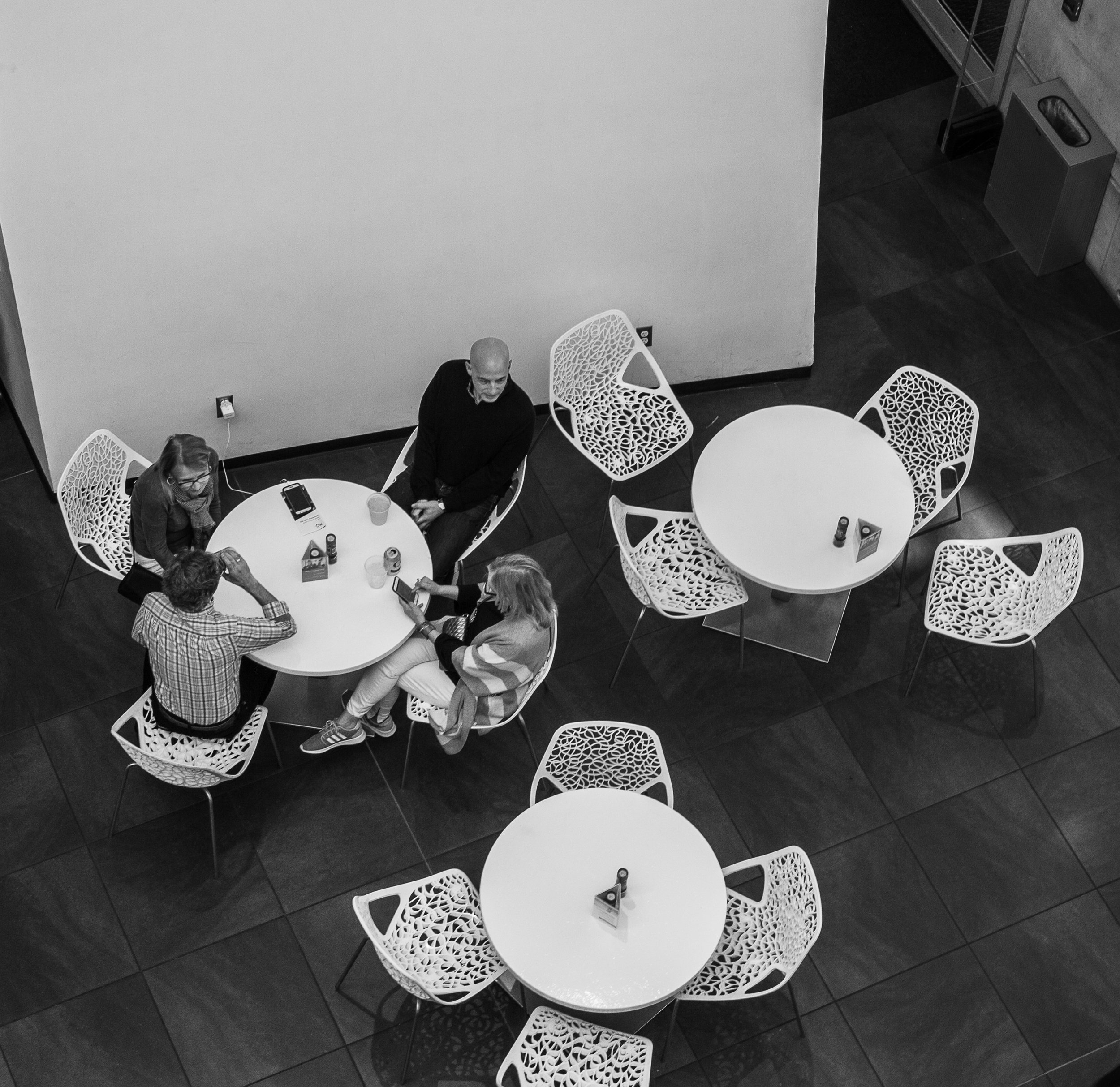 dali museum tables bw.jpg