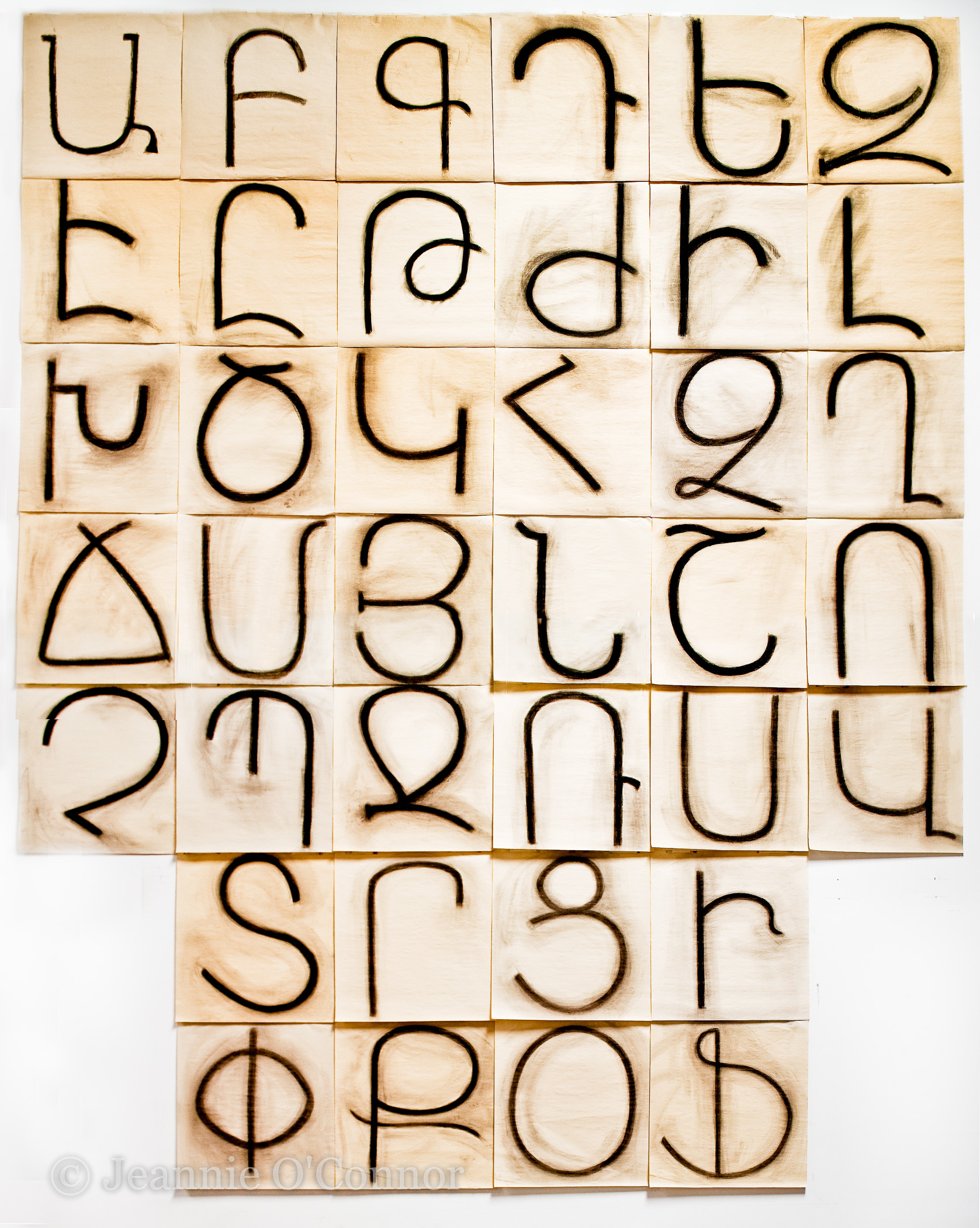 """ The Armenian Alphabet (charcoal) """