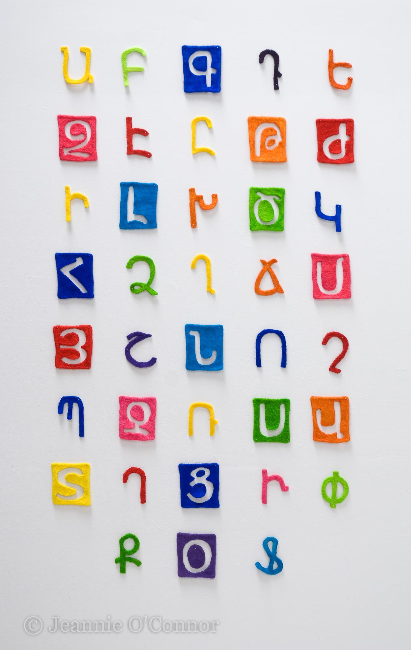 """"""" The Armenian Alphabet (felted)"""