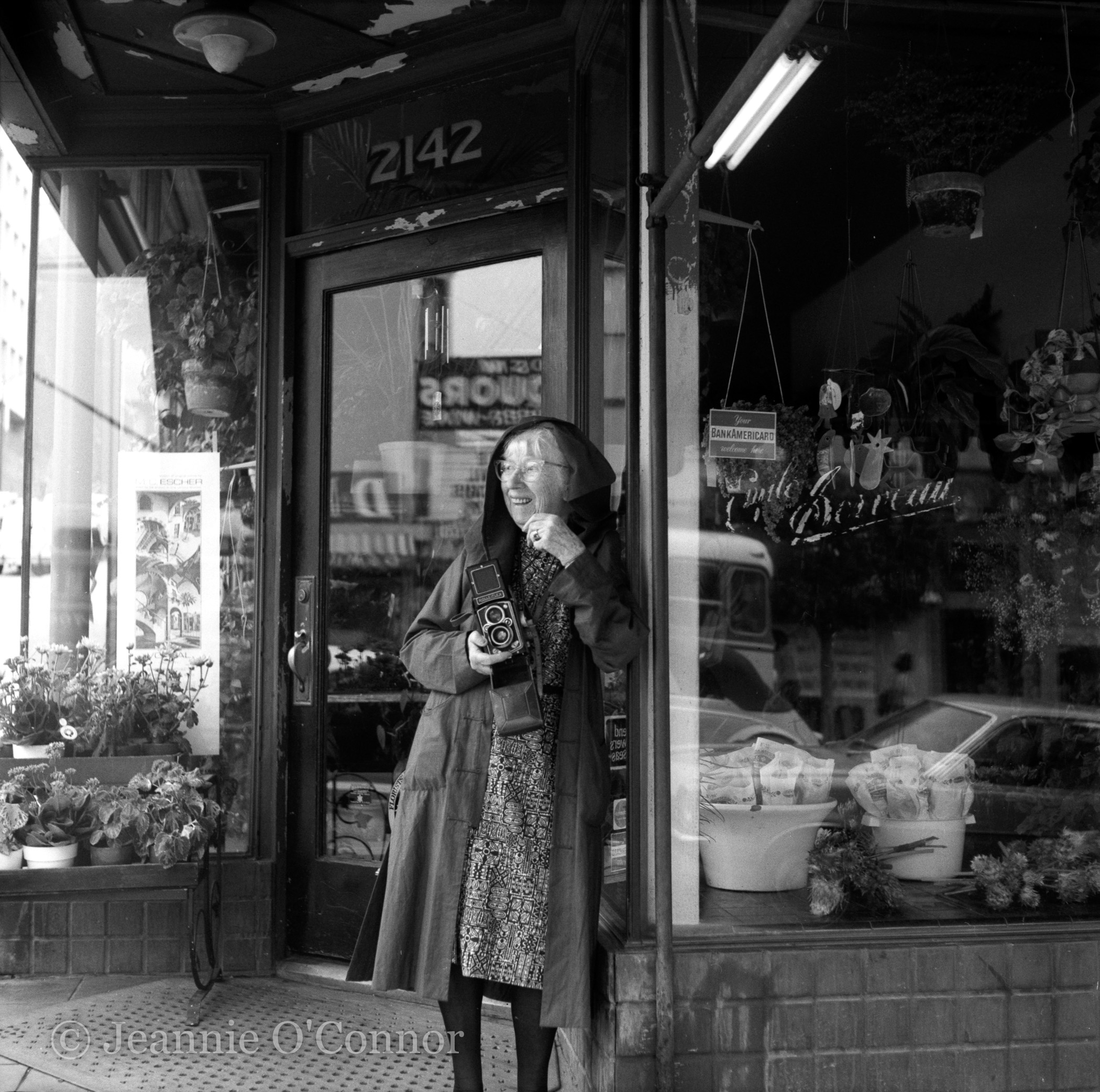 Imogen Cunningham in Doorway Florist