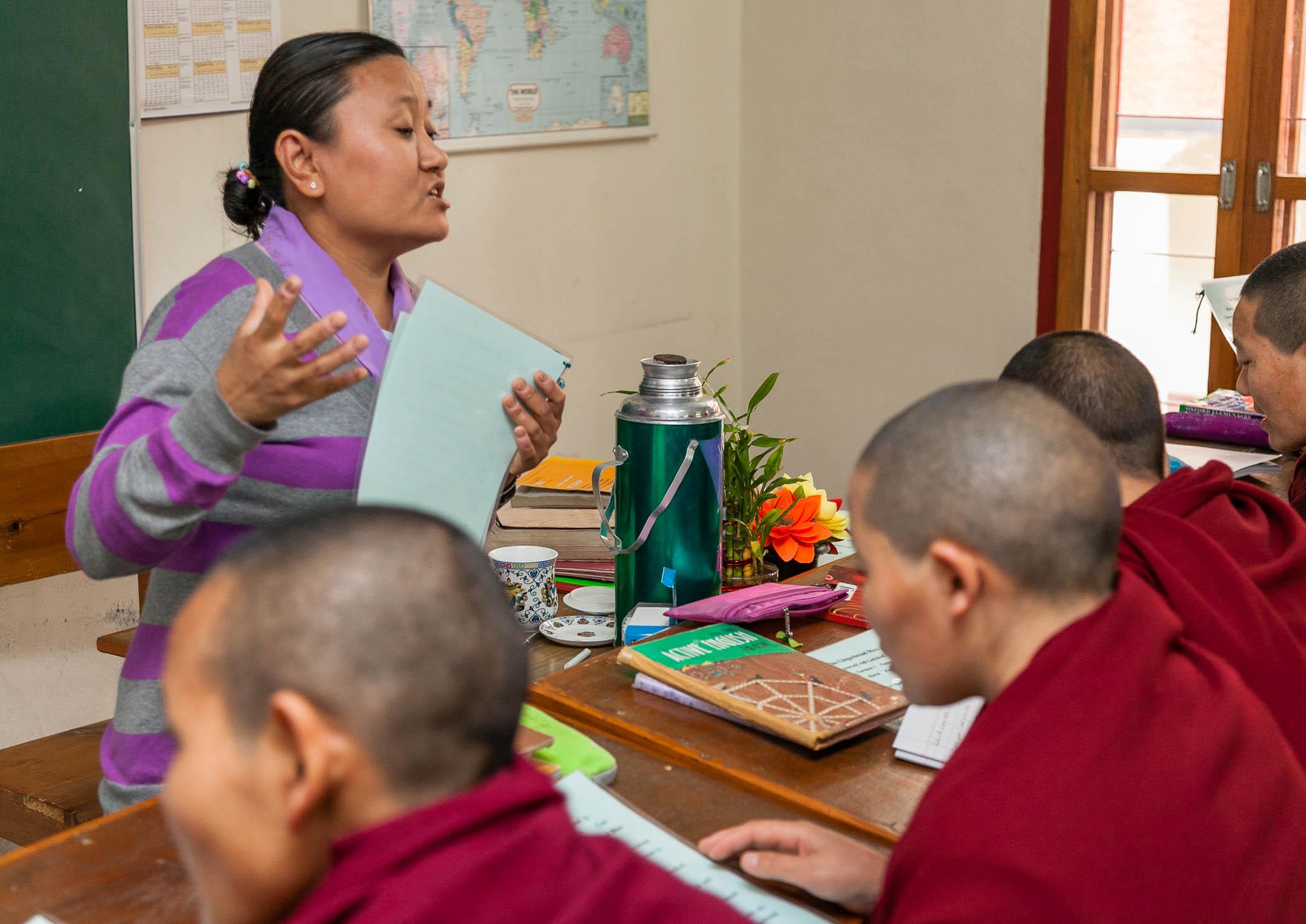 Jampa Choedron, English teacher, Dolma Ling