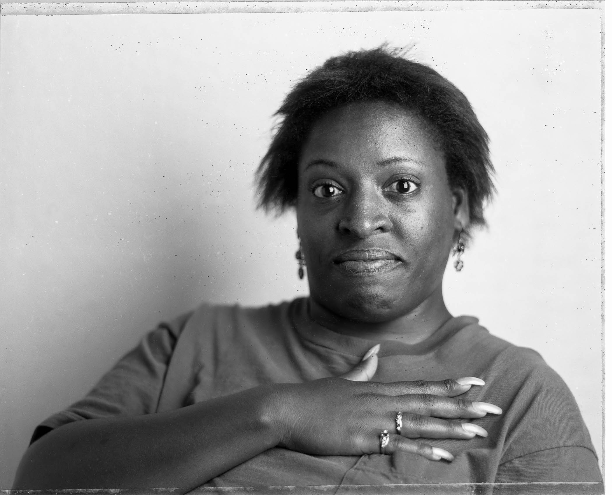 Woman with Long Fingernails,The Center for Aids Services, Oakland