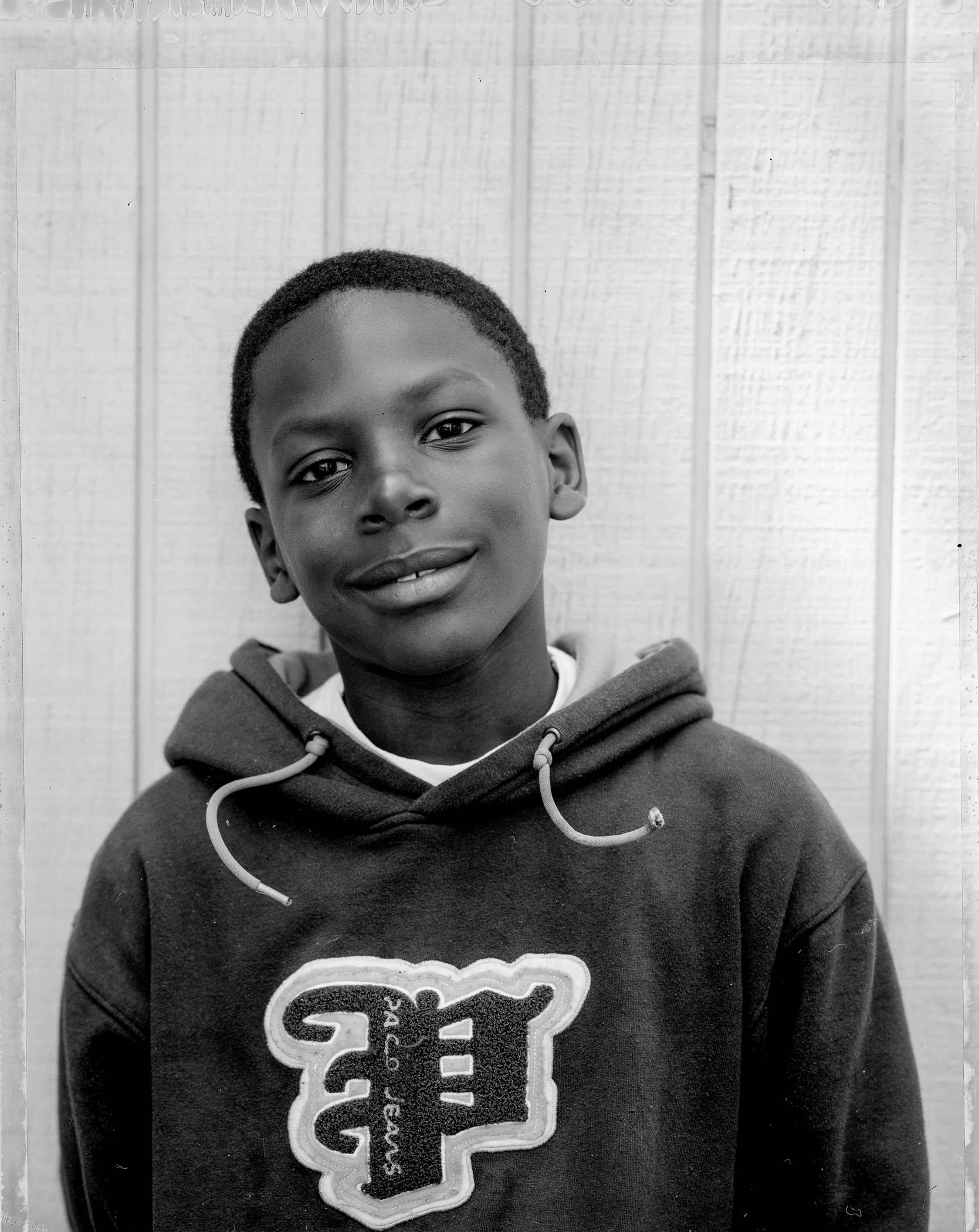 Boy in sweatshirt
