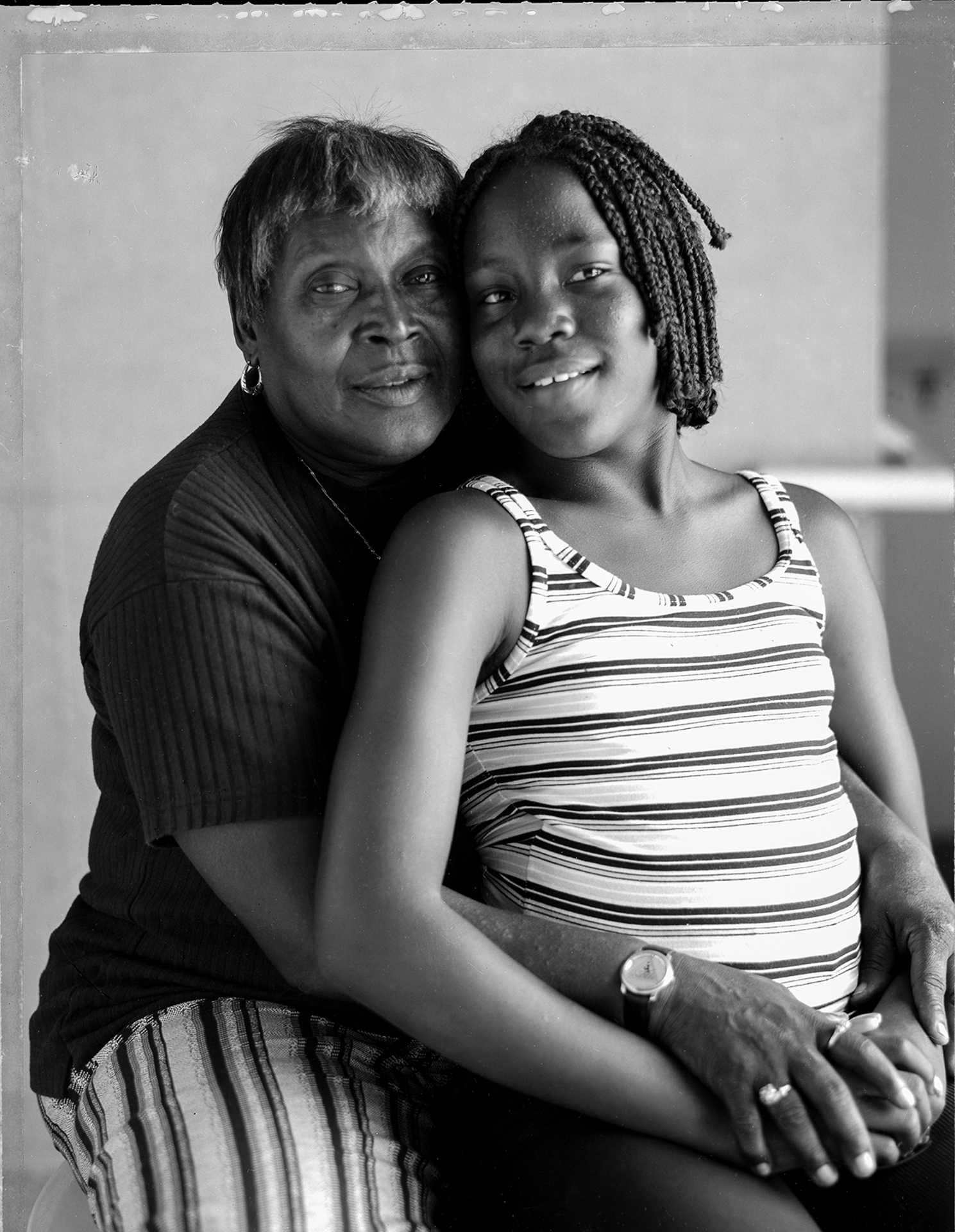 Dorothy Chapman and Granddaughter Whitney, The Center for Aids Services, Oakland