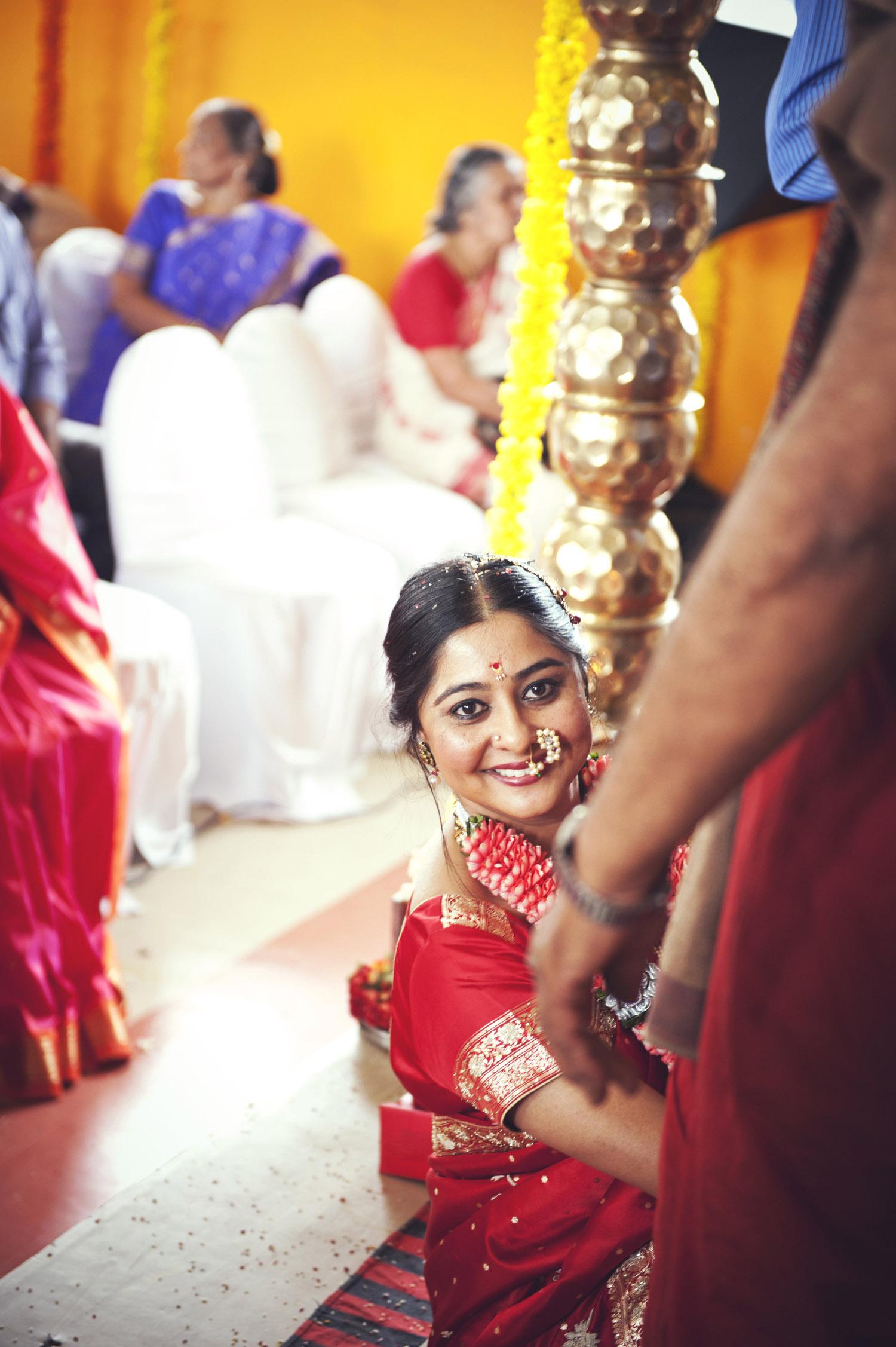 smiling indian bride