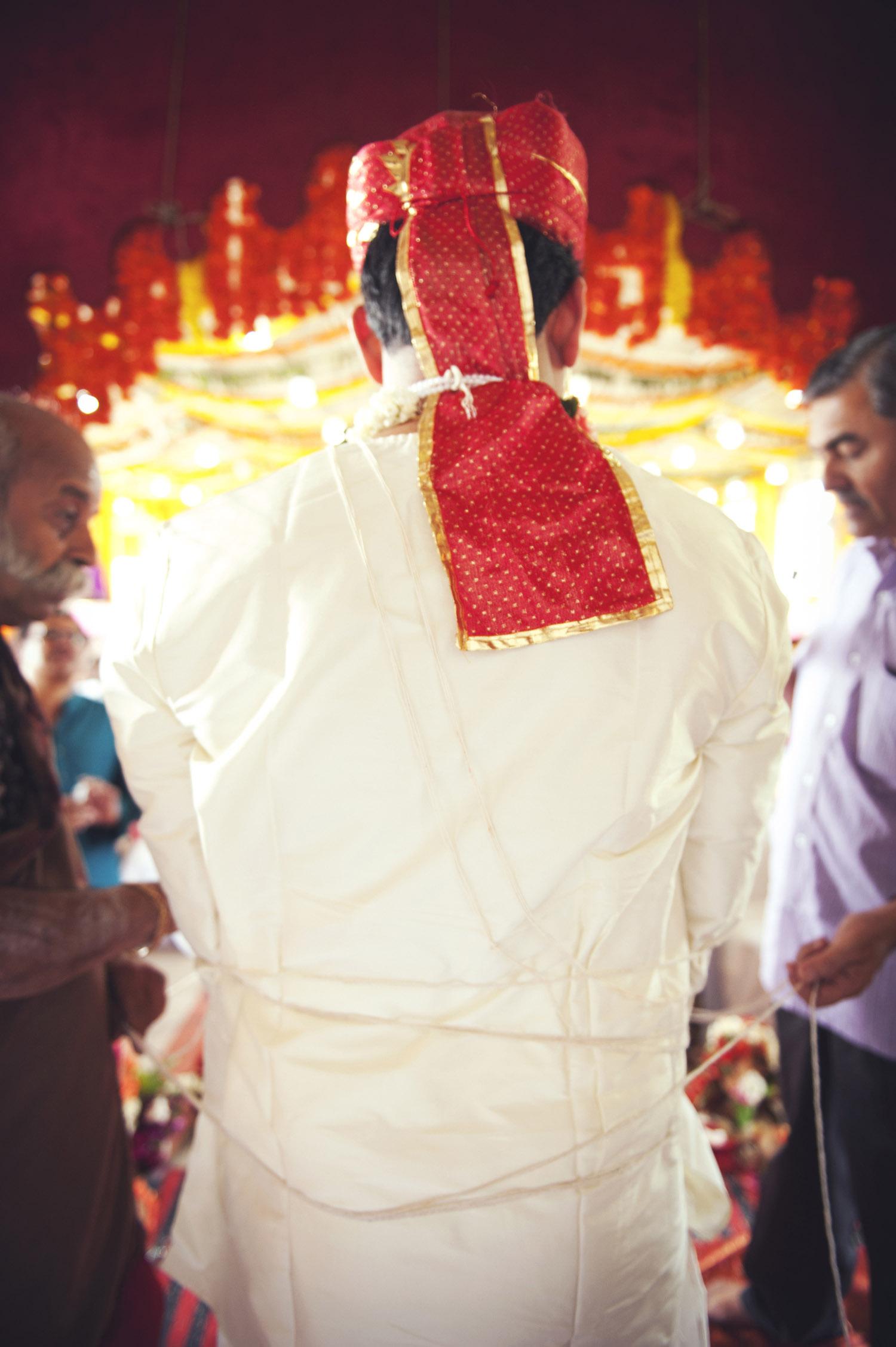 indian groom red turban