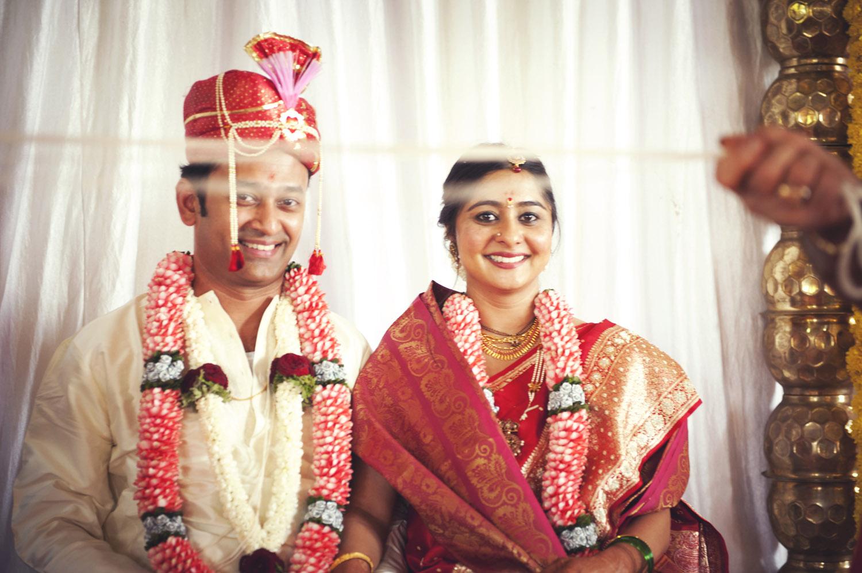 bride and groom portrait indian wedding