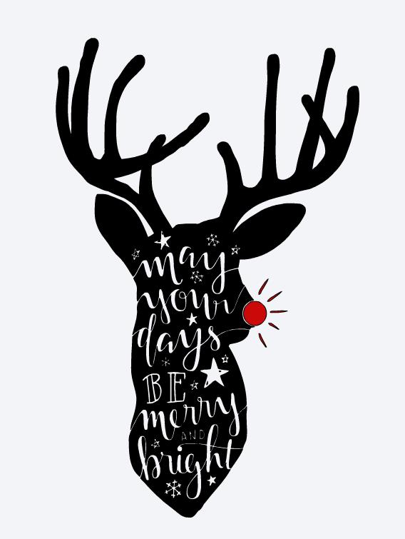 Merry & Bright Deer