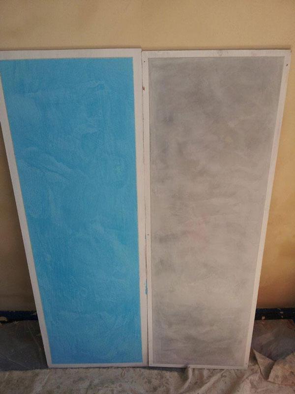 Polished plaster samples