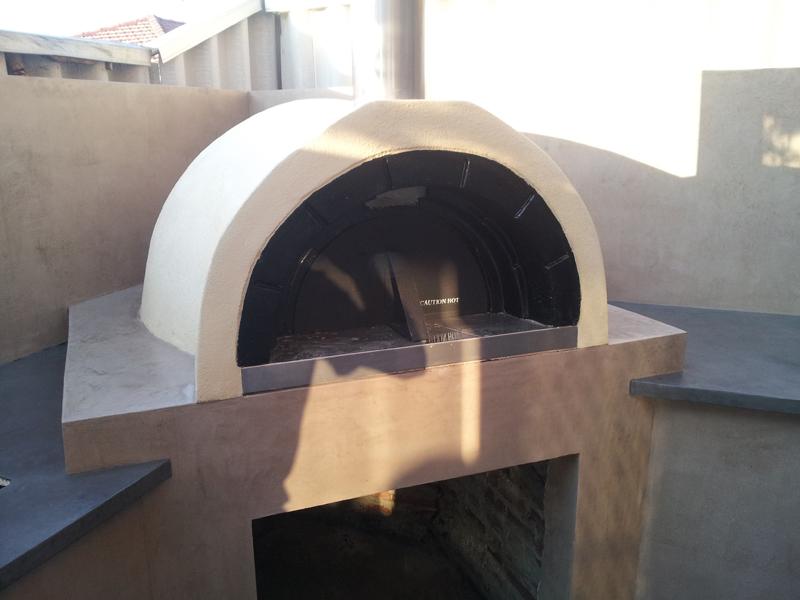 Venetian plaster BBQ