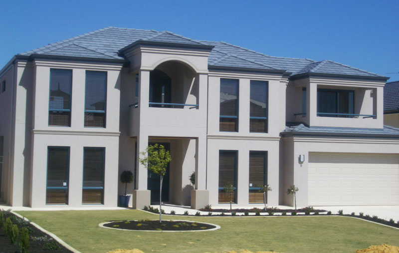 Sand finish with double corbelling