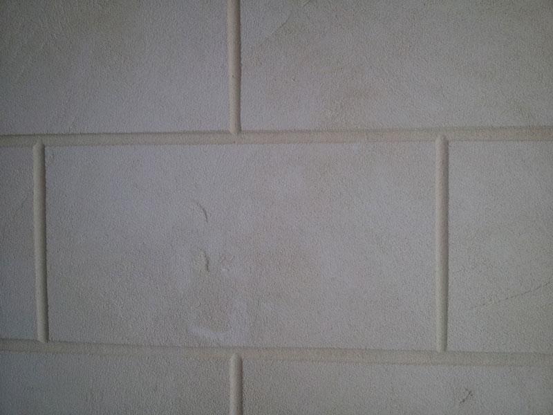 Hand finished mock limestone blocks