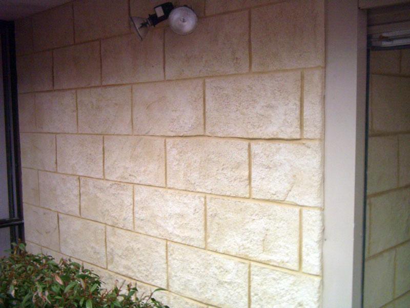 Mock limestone blocks