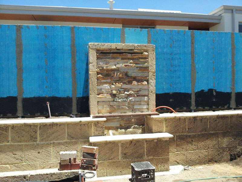 Blueboard fence joints have been acra-patched