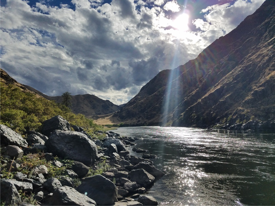 This was right off of the Snake River in Idaho. We hiked down to a museum that was not accessible by car. The only way you could visit was by hiking or along the river.