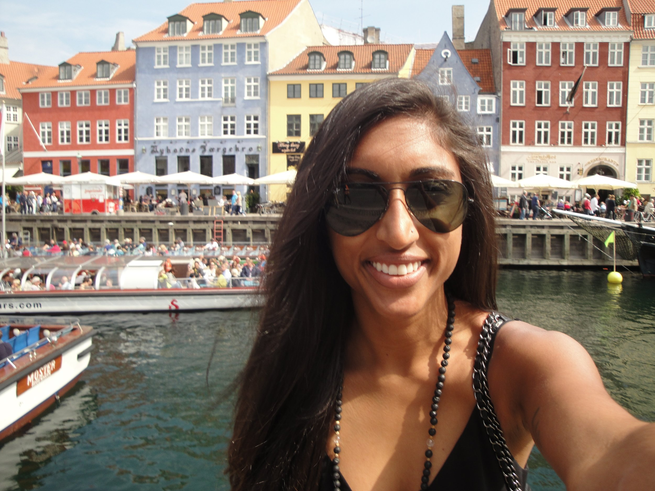 One must take typical tourist pictures when traveling to wonders of this world, especially when it's colorful Copenhagen.