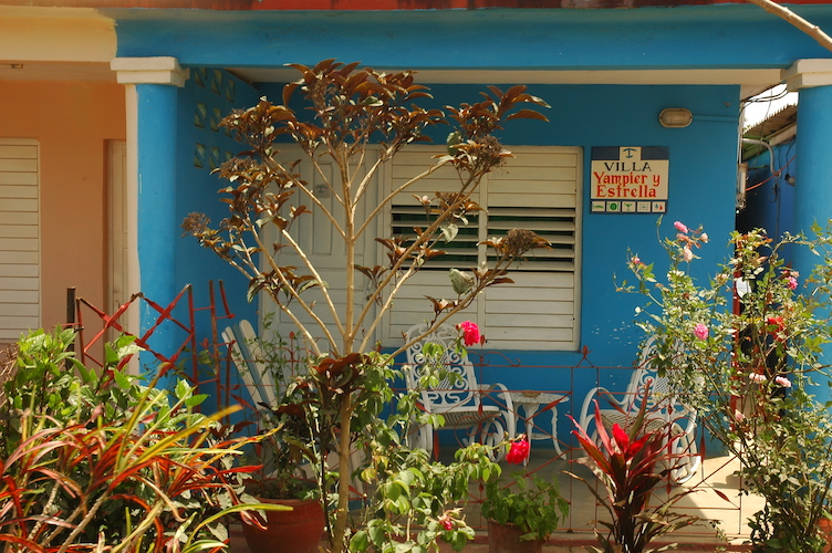 In town the casa particulares all looked the same.So cute and colorful.  P.S. Casa particulares are rooms travelers can rent from locals.