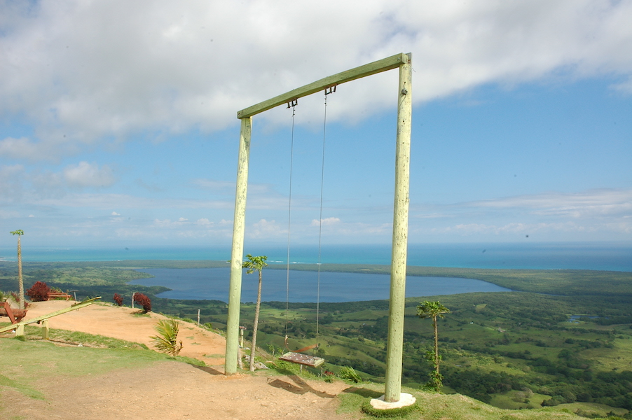 The summit of Redonda Montaña is like a photoshoot--swings, hammocks, and views for days.