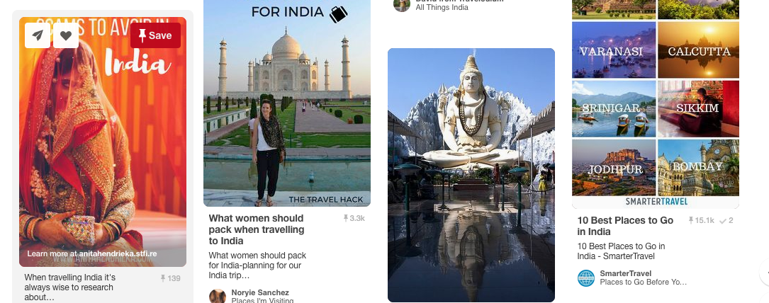 Pinterest is a great resource for photos and itineraries