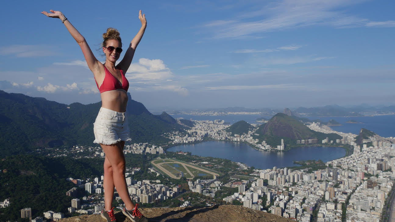 View from the hike up Morro Dois Irmaos in Rio, Brazil