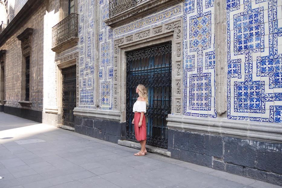 The beautiful tiled Casa de los Azulejos, Mexico City