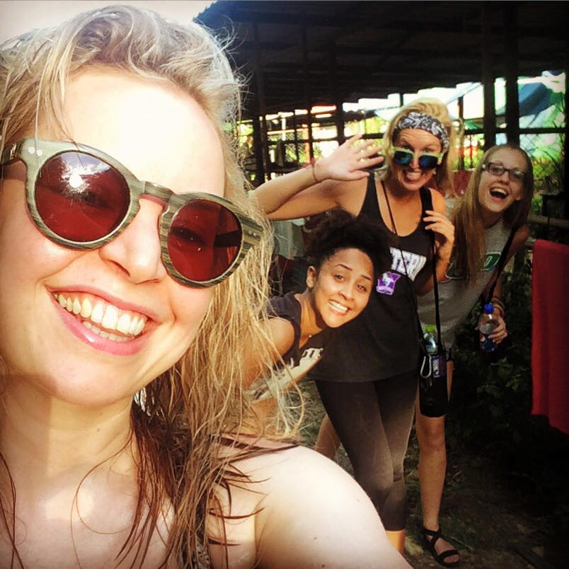 Some of the girls I volunteered with in Thailand, we shared shacks and bonded over walkies. Since this trip I have hung out with a couple of them in London when they've been in town. Friends for life.