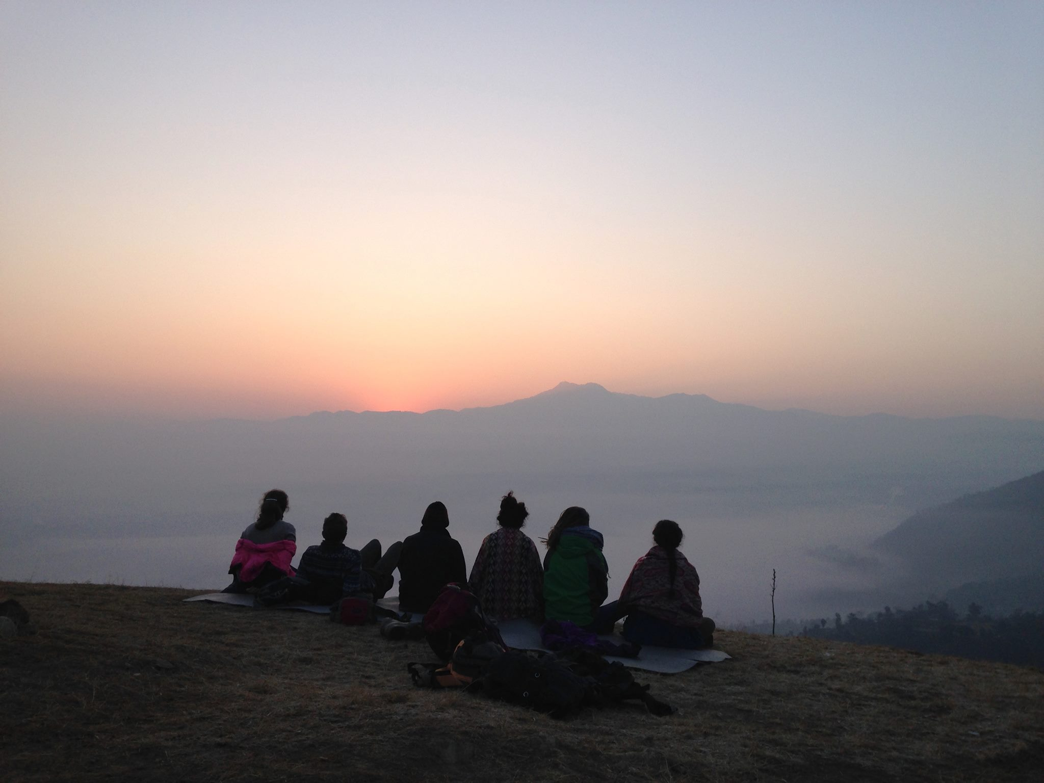 My first Nepalese sunrise with new friends.