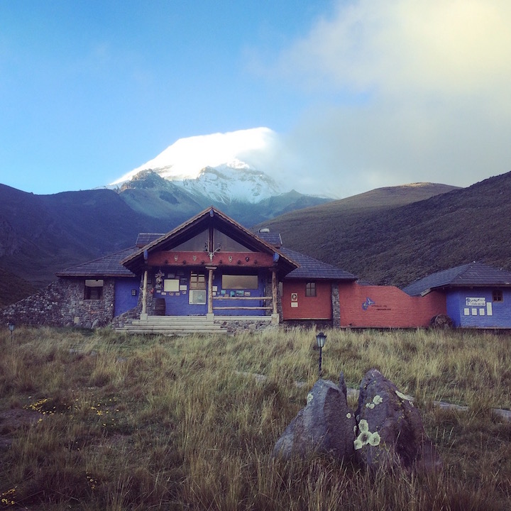 Chimborazo Lodge at the base of Chimborazo Volcano. Marco Cruz, the owner, has climbed the 21,000ft Volcano 600+ times!! This place is something special.