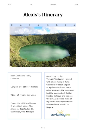Save Alexis' itinerary if you want adventure in Colombia.