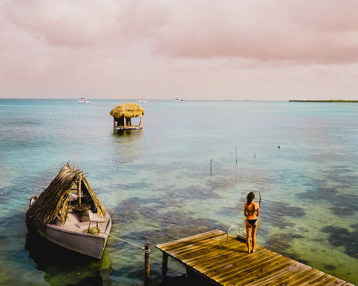 Taking in the view in Belize