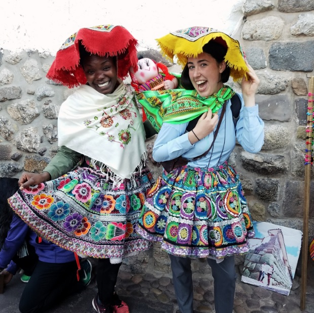 Playing dress-up in Cusco with Maddie.     (photo cred: Crystal M.)