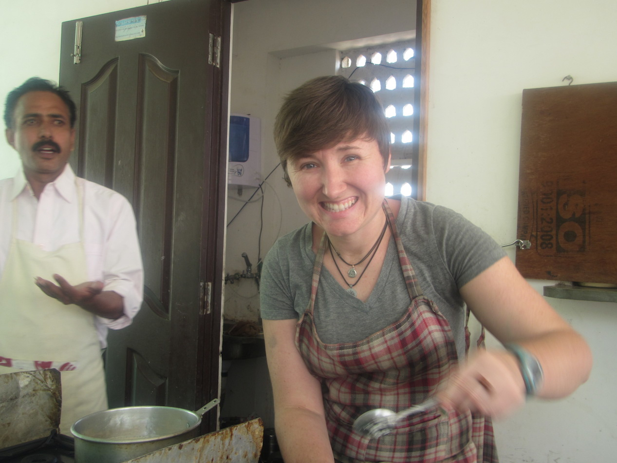 I took a cooking class in Jaipur.