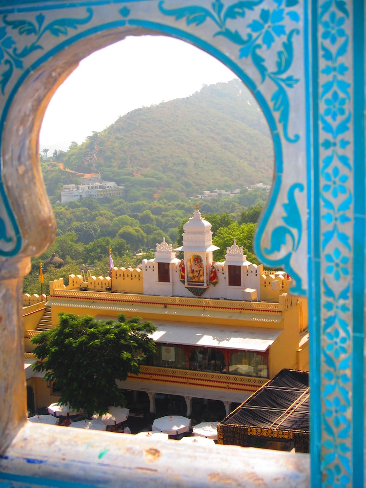 The decor inside the City Palace in Udaipur was spectacular as was the view.