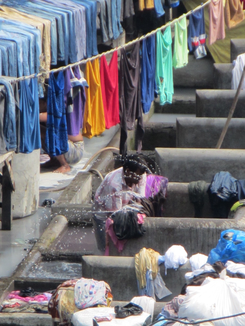 Observing daily life in Mumbai's largest outdoor laundry.