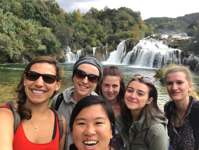 I am glad that I went to Croatia anyway. End of September is the end of peak tourist season but there are still many travelers. These are other solo traveling girls from my hostel that visited Krka Waterfalls with me.