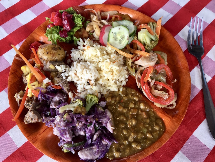 The most amazing lunch! Part of the day tour I took to Guatapé.
