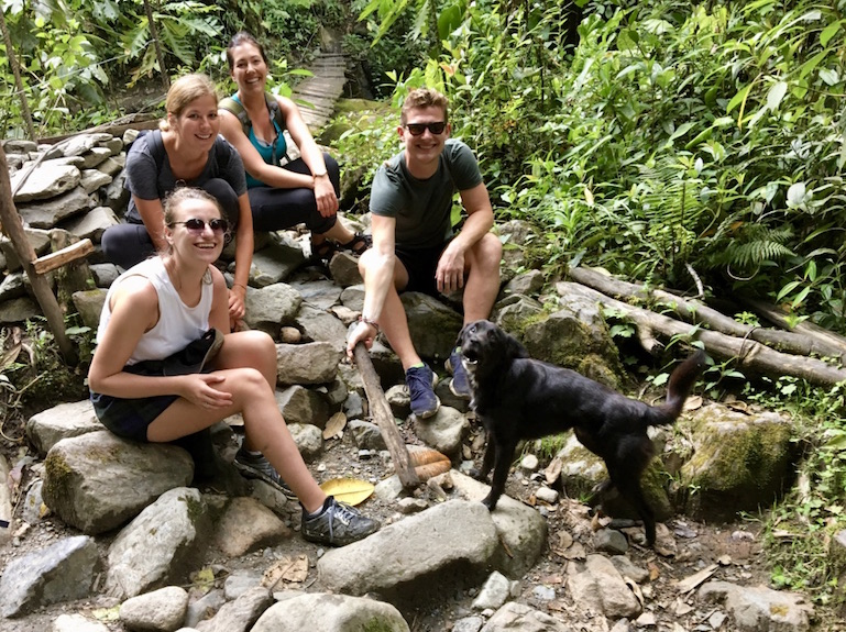 Hiking with new friends from Germany, England, and Canada + Colombian puppy. Part of my favorite thing about traveling solo was meeting fellow travelers from around the world.