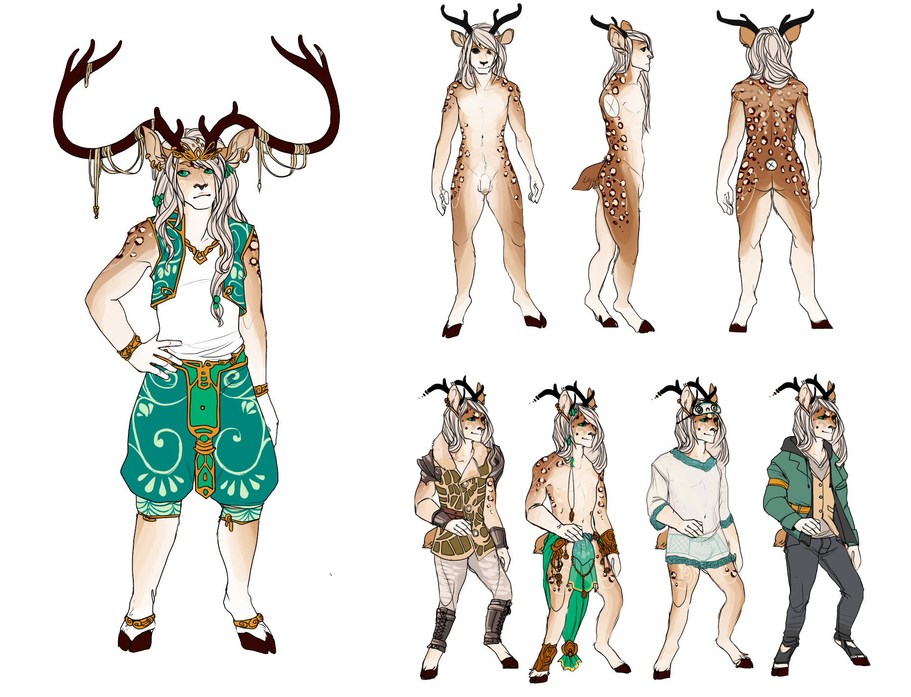 Feb 2015 - PaintTool Sai  Commissioned Character Sheet for the clients original character, Dream