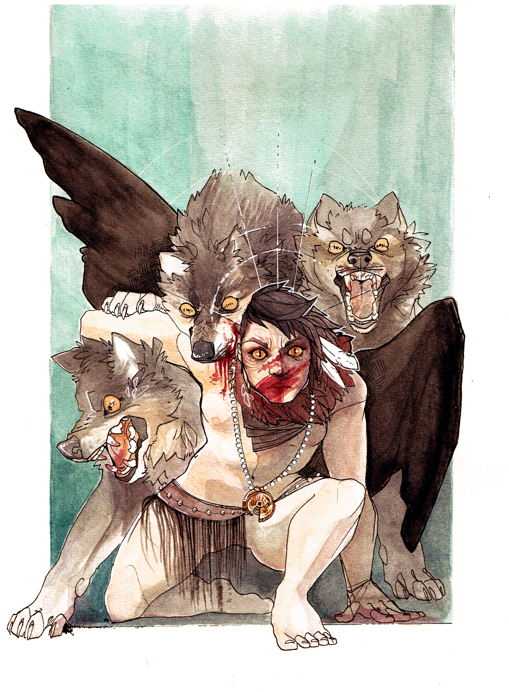 Dec 2014 - Watercolour  Personal Painting for the Arisia Art Show