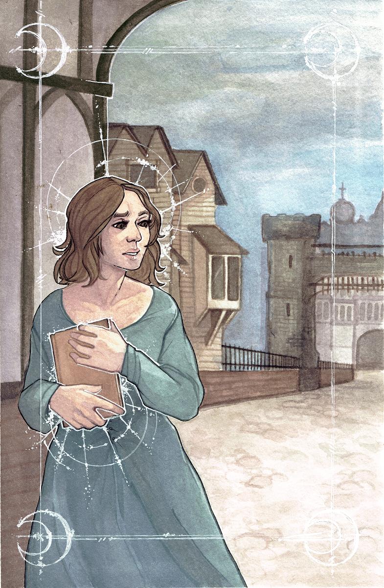watercolour, 2016 unused bookcover for tyche books