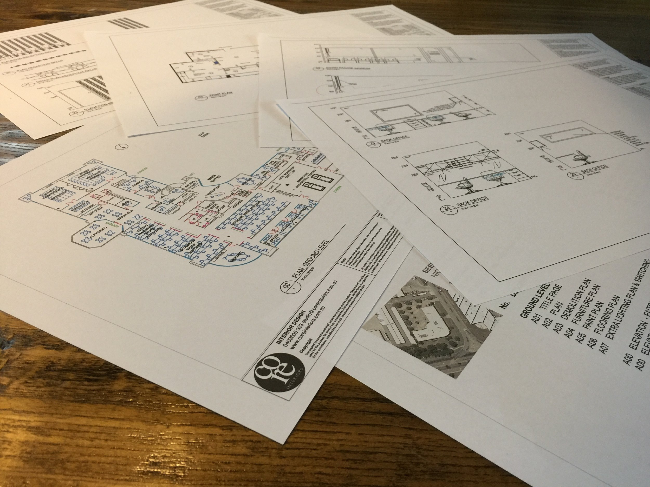 Full documentation design for joiners and builders to work from.