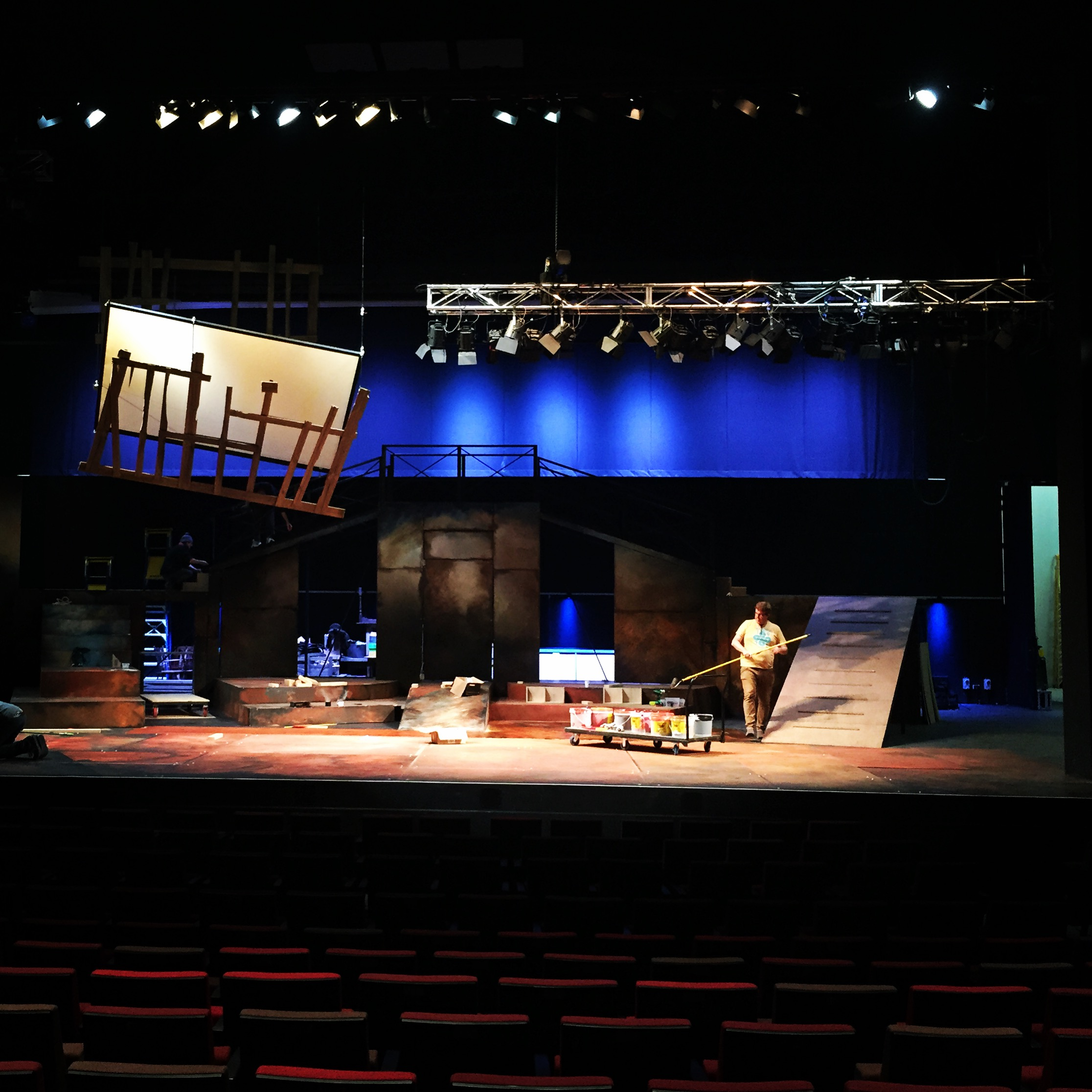 Set construction of 'NED - A New Australian Musical' 2015