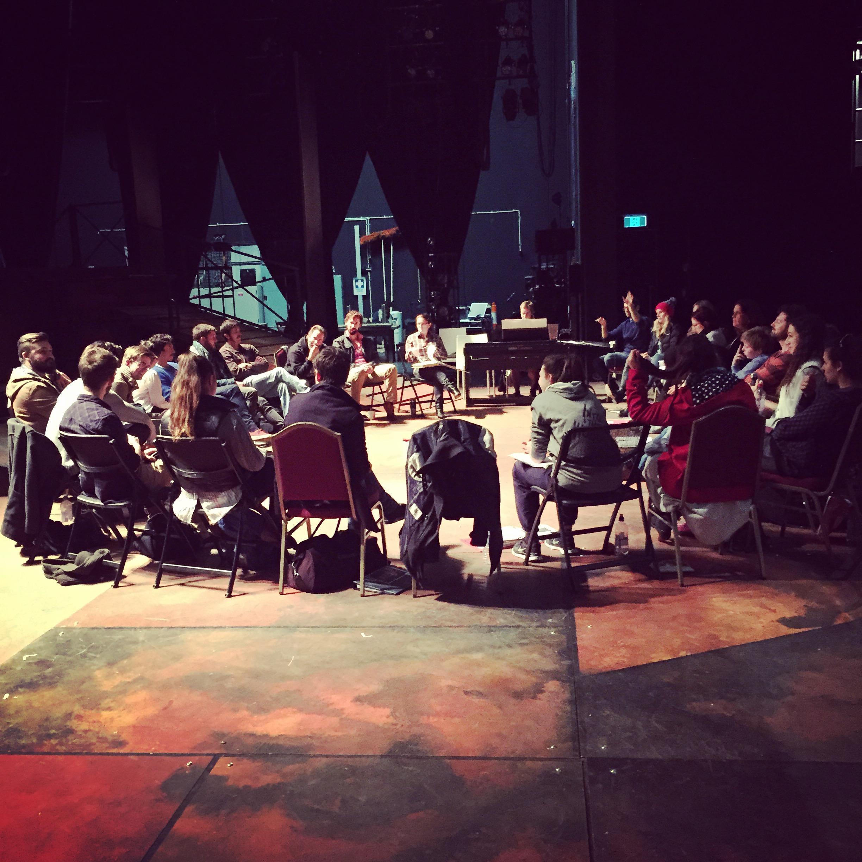 Rehearsal for 'NED - A New Australian Musical' 2015