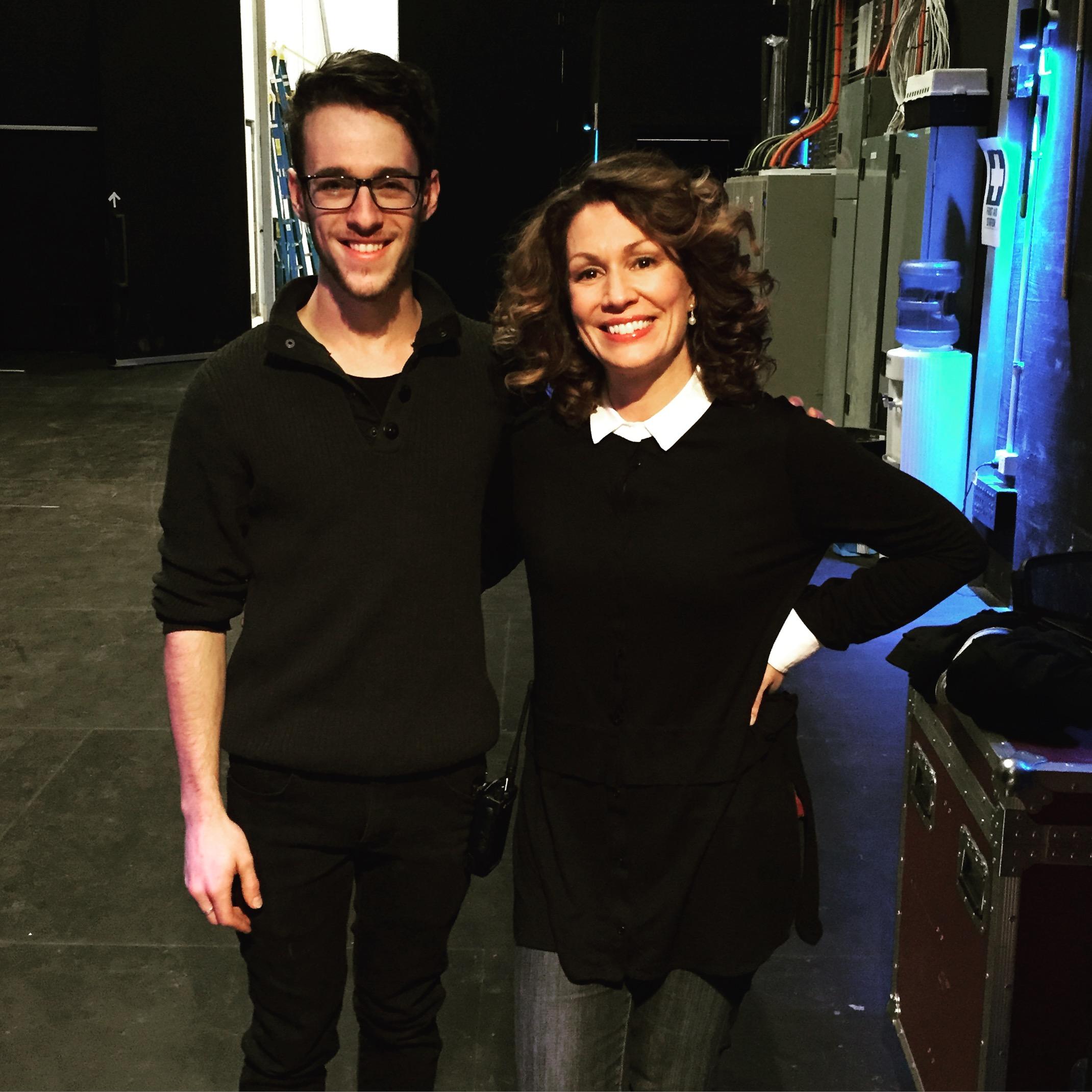 Working with comedian Kitty Flanagan, Ulumbarra Theatre 2015