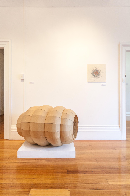 Ross Byers - Bulge, 2013, cardboard construction, 100 x 100 x 100cm