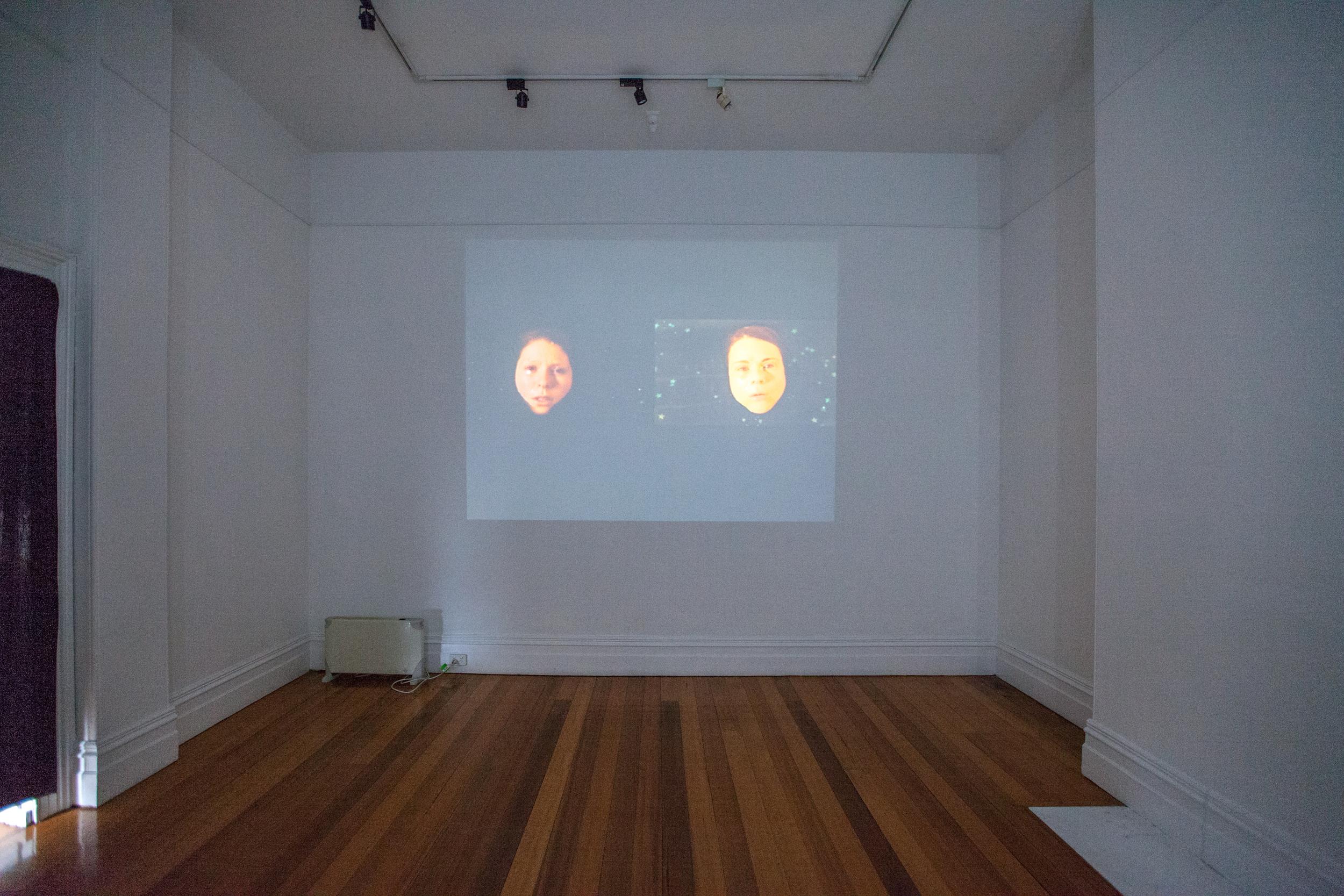 Installation view - Ray Harris & Celeste Aldahn - Parallel Worlds
